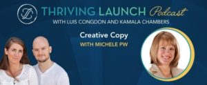 Creative Copy on Thriving Launch Podcast