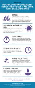 [Infographic] Conquer Multiple Writing Projects with Ease and Grace